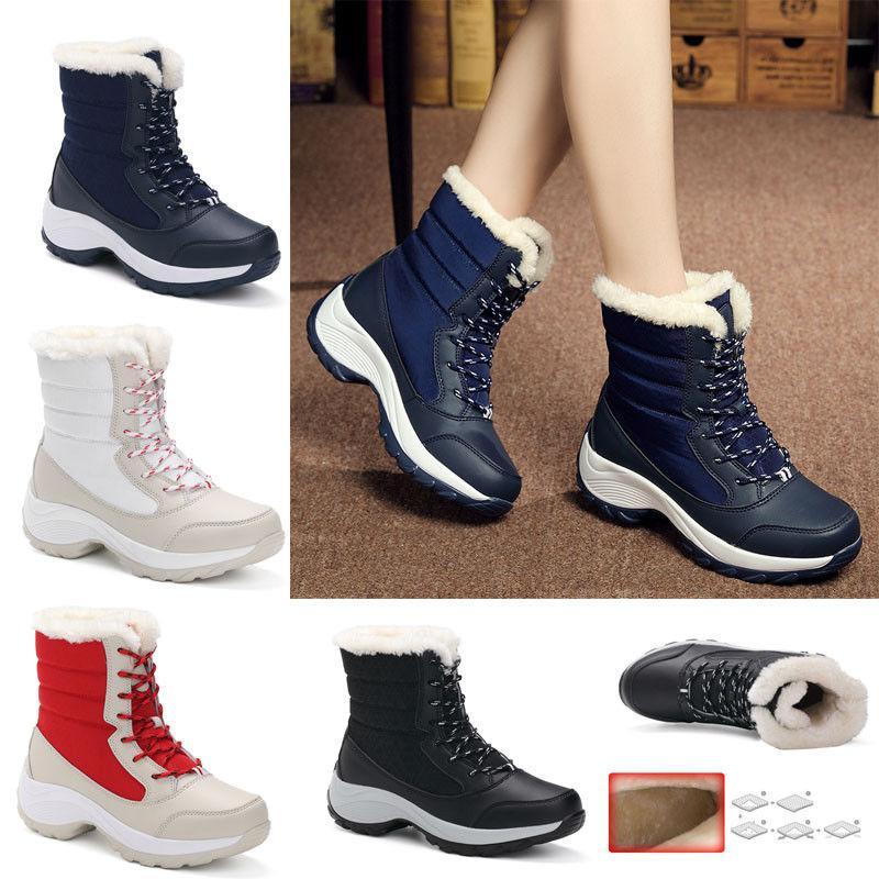 Snow Boots Winter Plus Velvet High-top Women's Shoes Waterpr