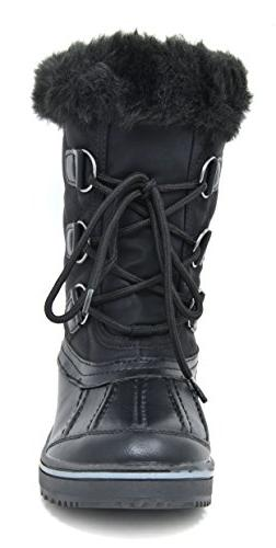 DREAM PAIRS Women's Black Snow Boots Size M