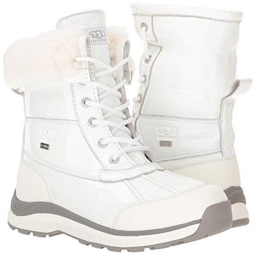 UGG Women's Adirondack Boot III Patent White,