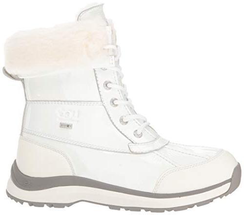 UGG Women's W Boot III Patent Snow, White, 10 M US