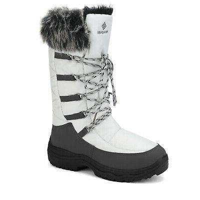 Women Warm Weather Waterproof Calf Full Fur Snow