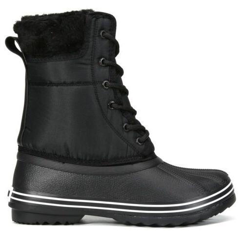 Wisstt Waterproof Warm Snow Lace Duck Boots Sizes