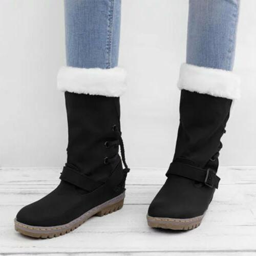 Women's Fur Insulated Waterproof Midi Calf Size