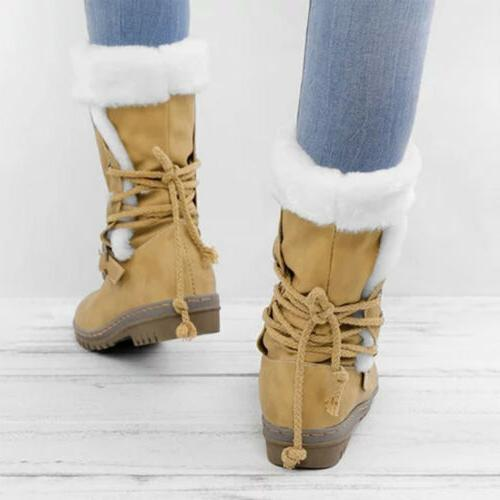 Women's Boots Fur Insulated Midi Size