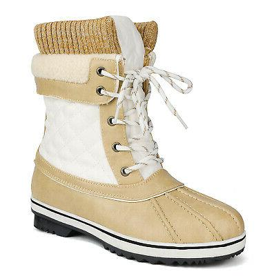 Women's Fur Insulated Mid Calf Boots US