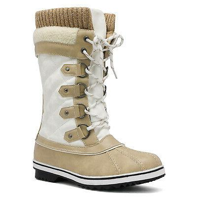 Women's Winter Boots Snow Fur Warm Insulated Waterproof US