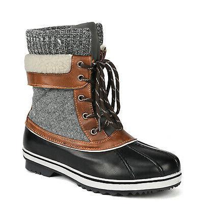 Women's Boots Fur Waterproof Mid Boots US