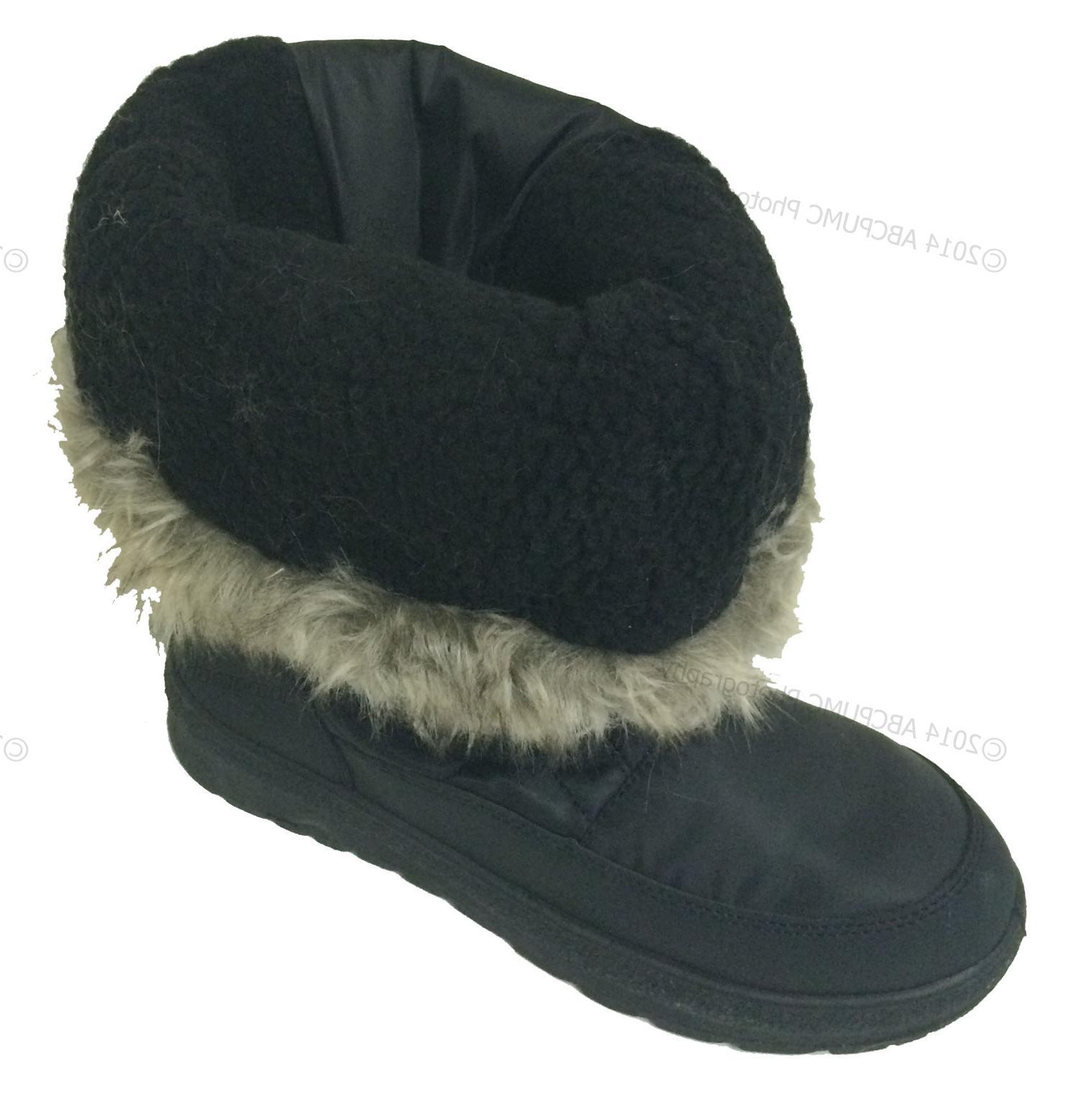 Women's Winter Boots Fur Waterproof Zipper Ski