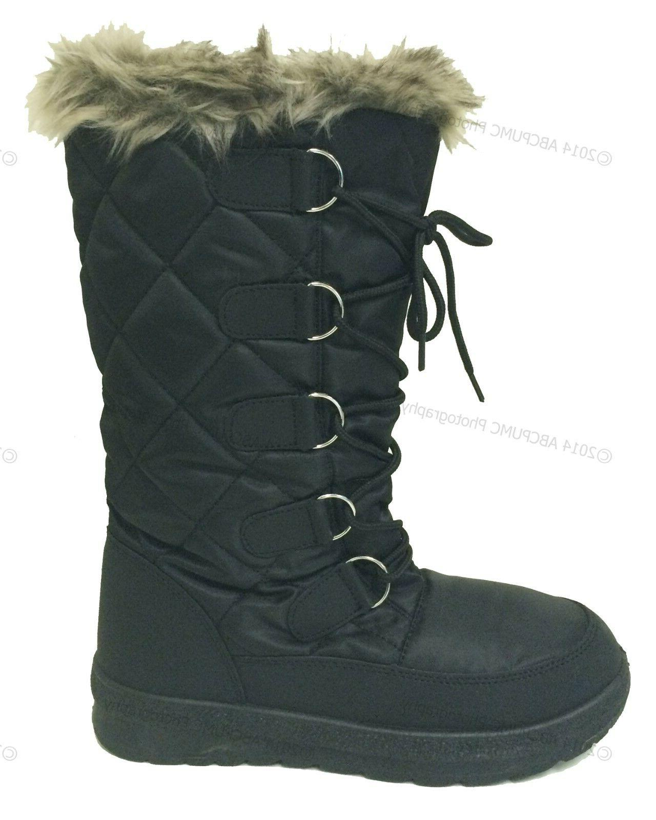 Women's Winter Fur Warm Insulated Zipper Shoes,
