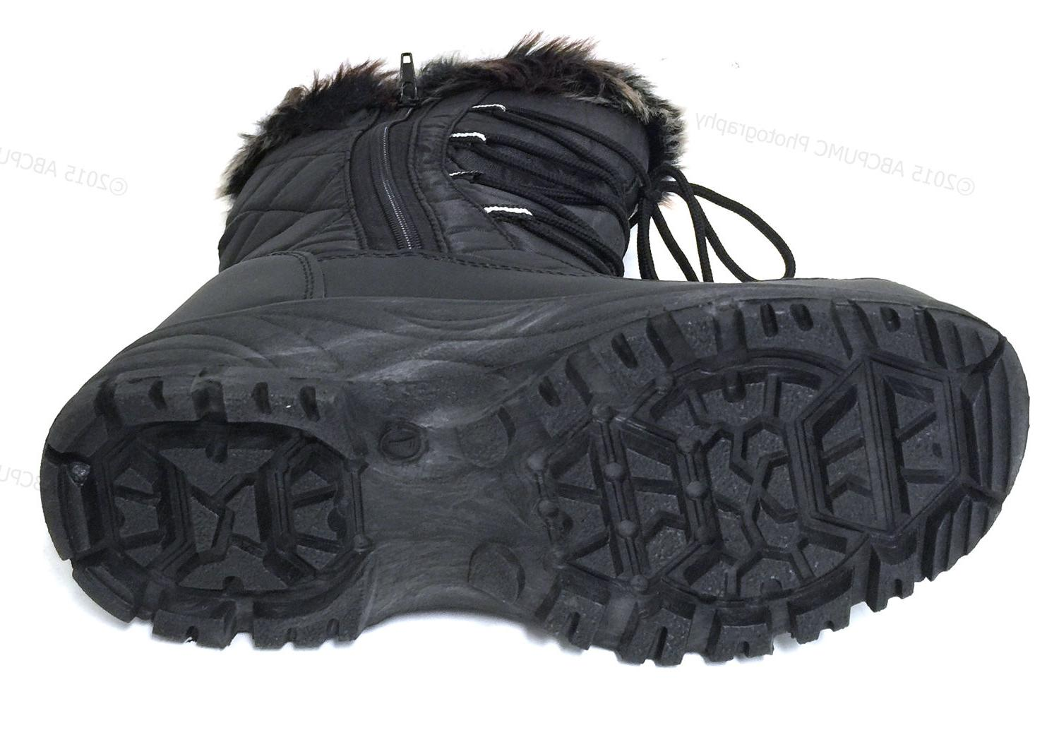 Women's Winter Black Repellent Insulated Shoes Sizes