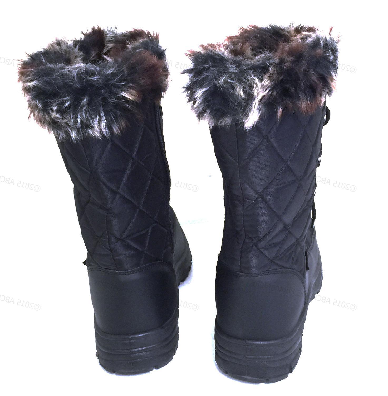 Women's Winter Snow Boots Black Water Repellent