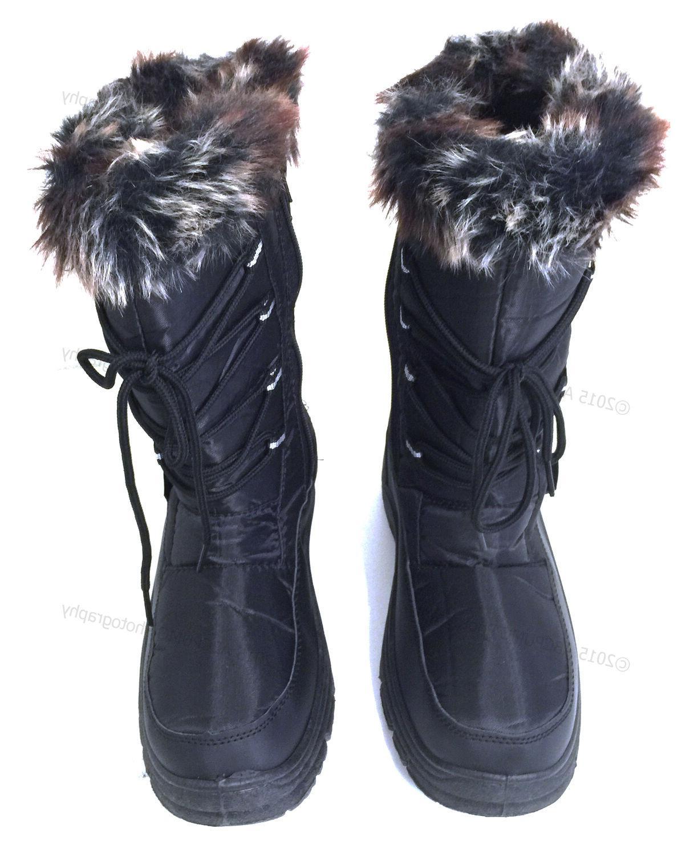 Women's Winter Snow Black Fur Repellent