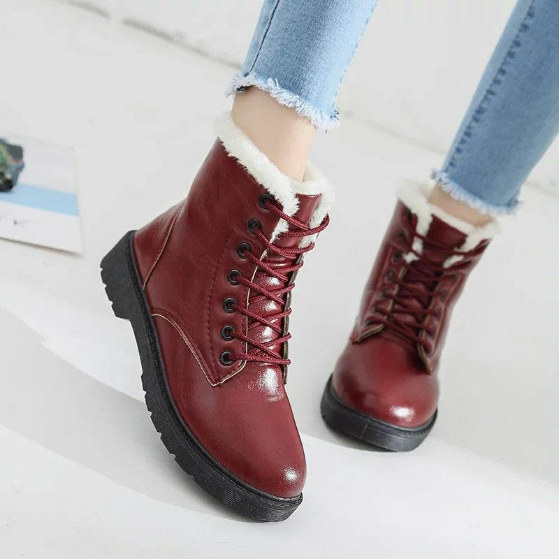 women s winter snow boots lace up