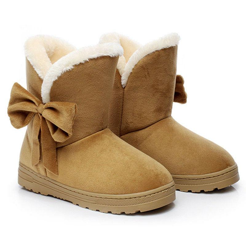 Women's Ankle Boots Fur Thicken Ski Flats Shoes