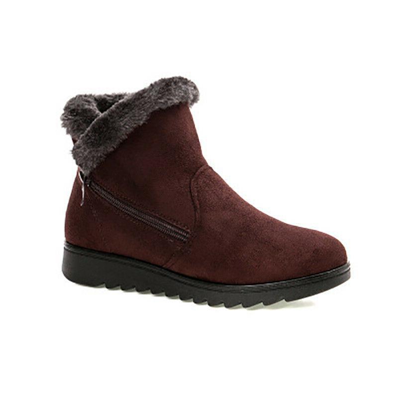 Women Snow Boots Size Winter Ankle Shoes Warm Short Flat Heels