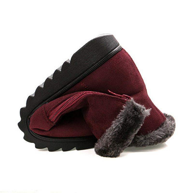 Women Snow Boots Size Winter Shoes Warm Short Plush Flat Heels