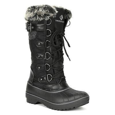 DREAM PAIRS Women Winter insulation Waterproof Knee High Fau