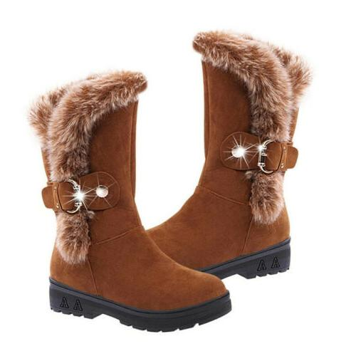 Women Winter Snow Boots Fashion Warm Casual Size