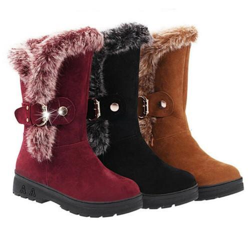 Women Winter Boots Fashion Casual Calf Size