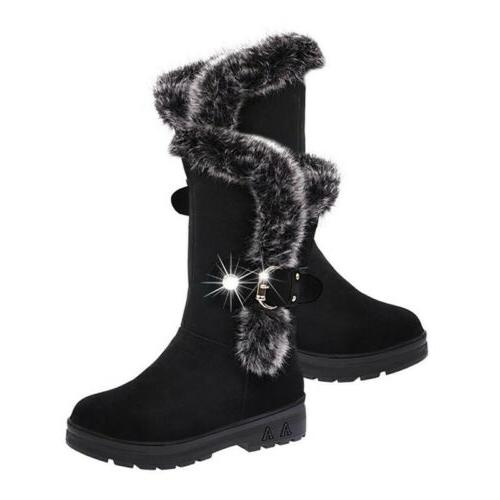 Women Snow Fashion Warm Casual Mid Shoes Size