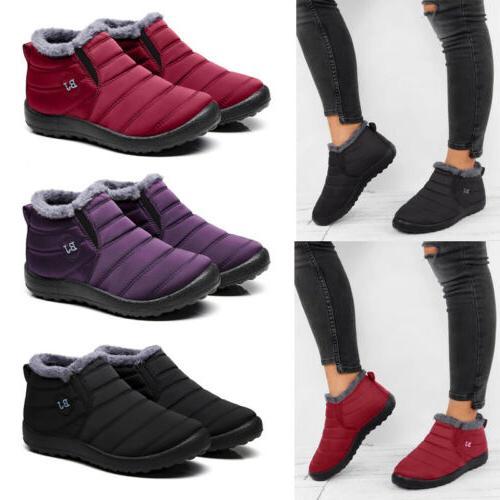 Women's Snow Boots Warm Fur Lined Ankle Booties Waterproof S