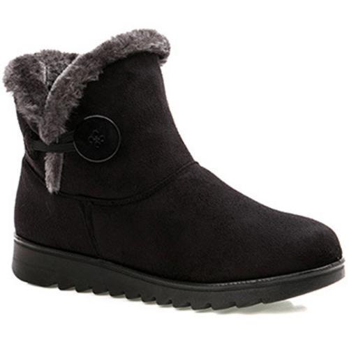 Dear Time Women Winter Warm Button Snow Boots US 6