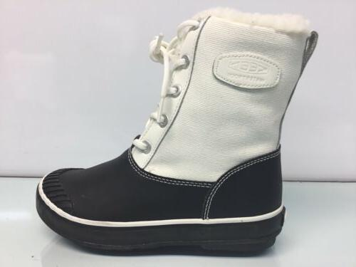 womens elsa star white black snow boots