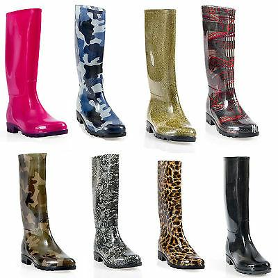 womens flat rain boots rubber snow mid
