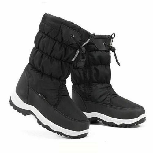 Boots Calf Flat Shoe Waterproof