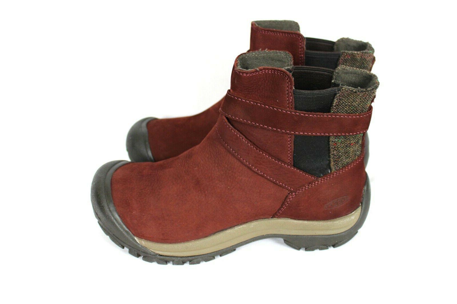 Keen Womens Maroon On Boots 8.5 10 -