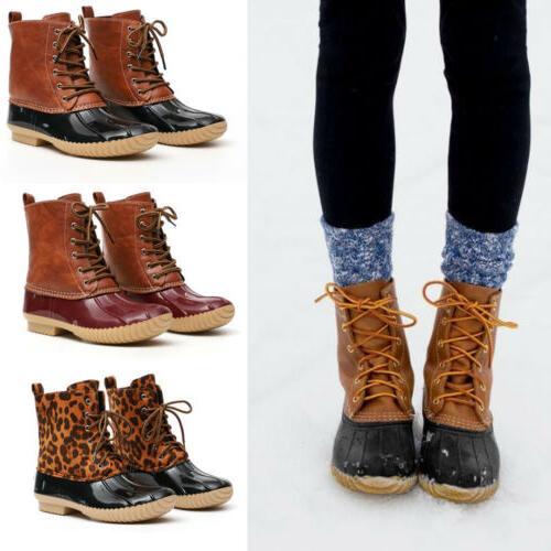 Women's Winter Waterproof Duck Snow Boots Hiking Walking Hik