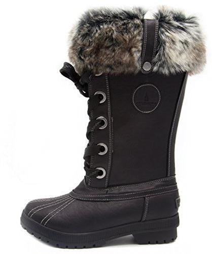 London Fog Cold Weather Waterproof Boot Black 9 US
