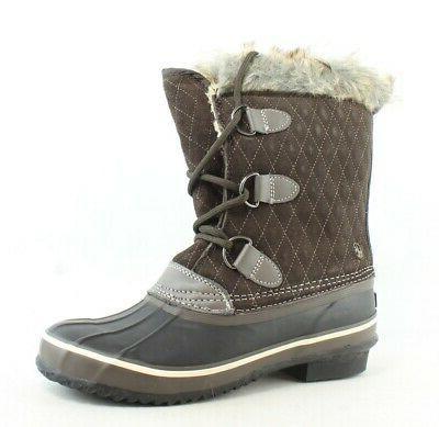 womens mont blanc dark brown snow boots