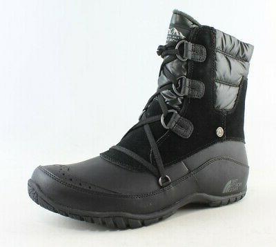 womens nuptse purna shorty black snow boots