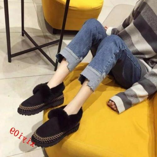Womens Boot Fur Winter Round Pull Casual