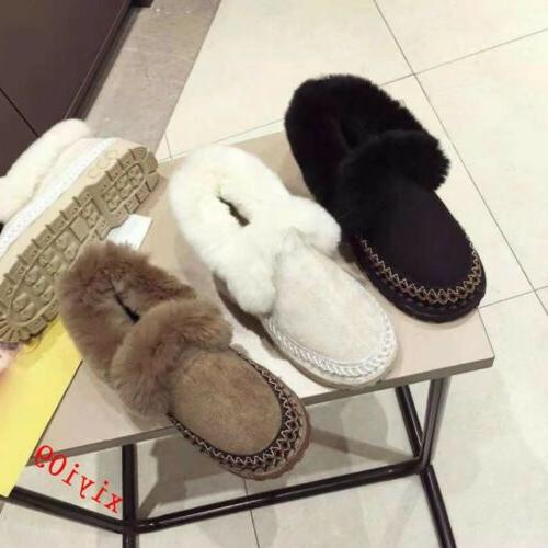 Womens Snow Ankle Boot Fur Round Toe Pull On Casual Shoes Warm