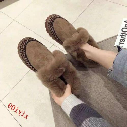 Womens Snow Boots Ankle Boot Trim Round Casual Shoes Warm