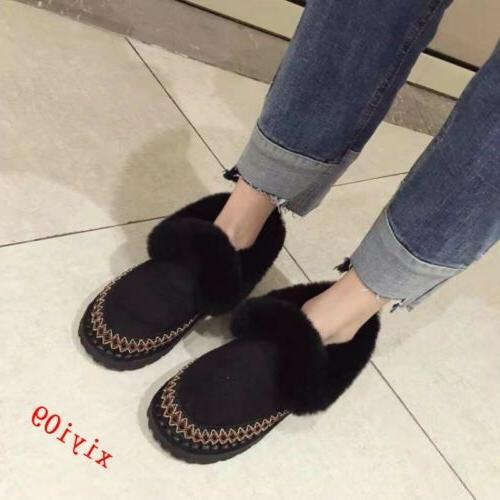 Womens Boot Trim Winter Round Casual Warm