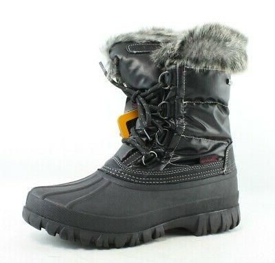 womens windom black snow boots size 6