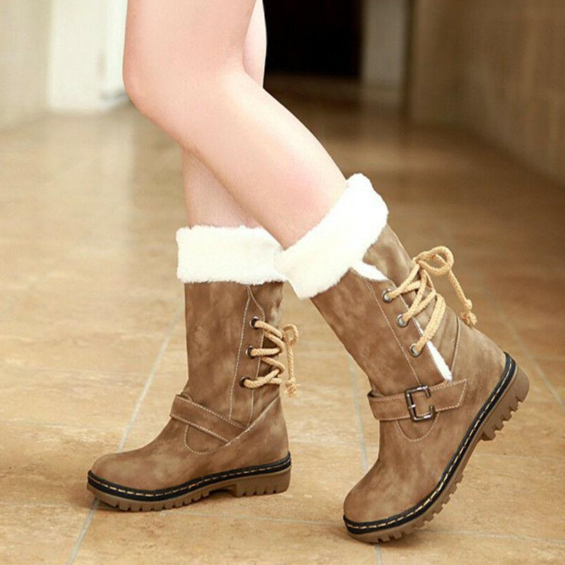 women s winter boots snow fur warm