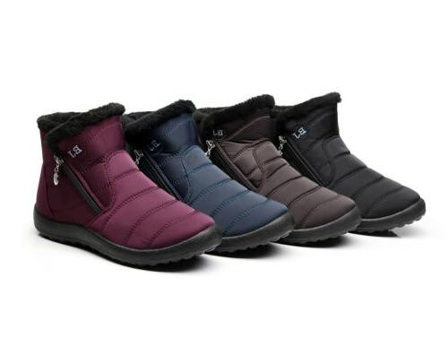 Womens Boots Lined Waterproof Outdoor Flat Warm Cozy