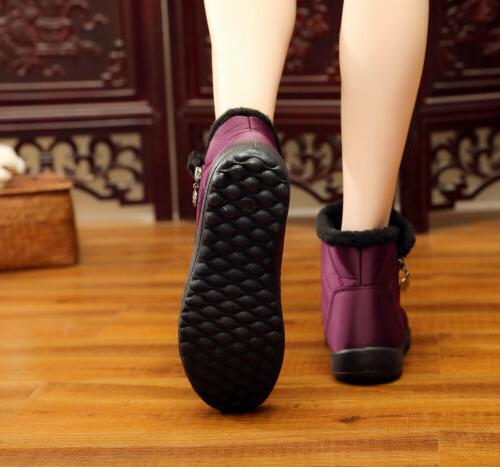 Womens Winter Snow Boots Fur Lined Shoes