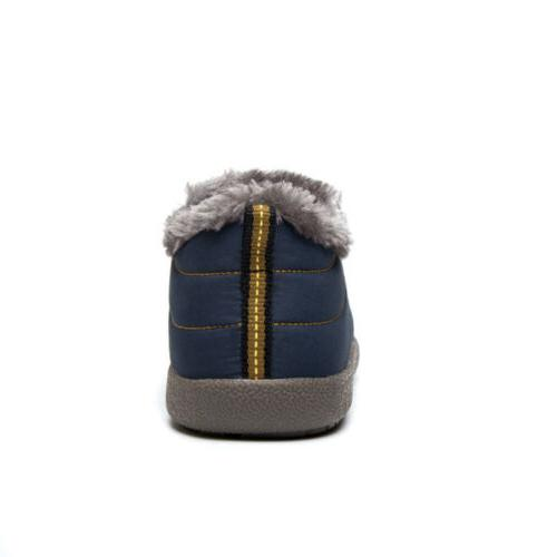 Womens Winter Slippers Ankle Boots Fur Lined Warm Shoes Outdoor
