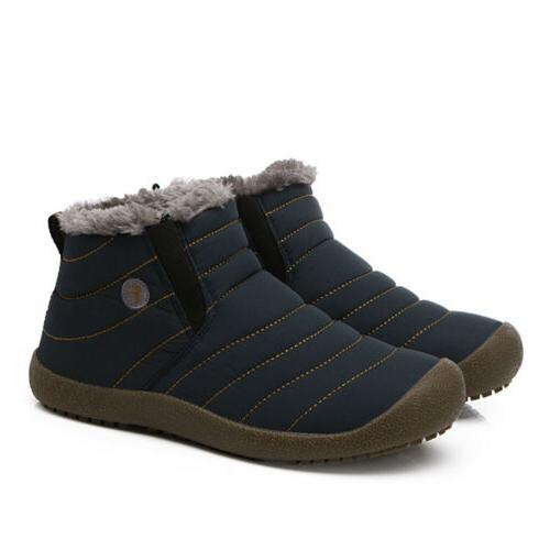 Womens Winter Snow Ankle Boots Fur Lined Warm Cozy Outdoor