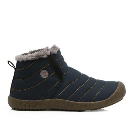 Womens Snow Slippers Ankle Boots Fur Lined Warm Shoes Casual Outdoor