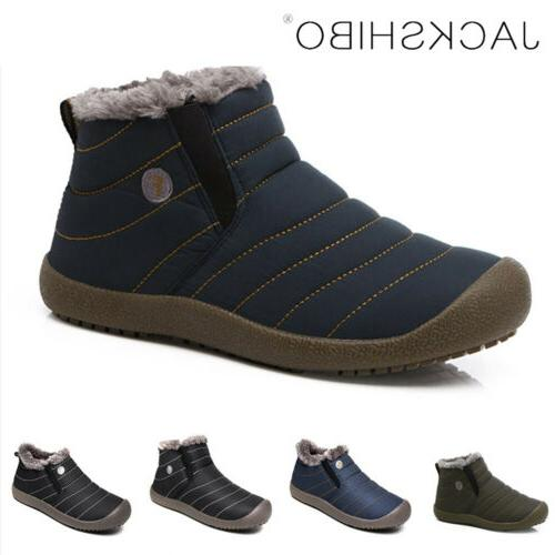 womens winter snow boots ankle shoes fur