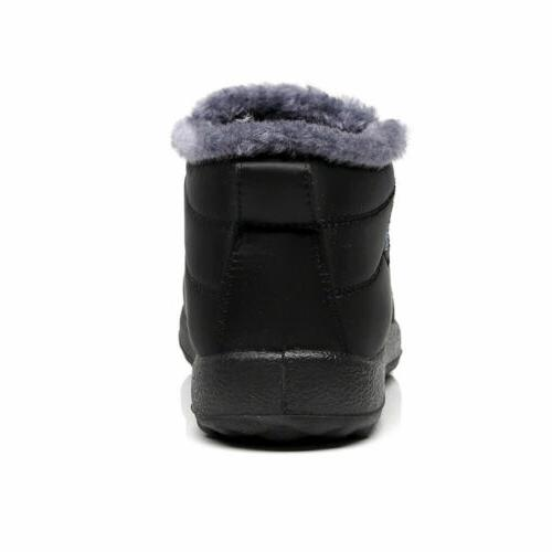 Winter Fur-lined Slip On Ankle Shoes Shoes US
