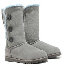LEATHER  winter snow boots for women