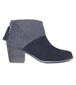 TOMS Women's Leila Bootie Black Wool Felt Boot
