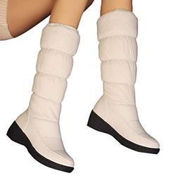 Aurorax Shoes Women's Long Snow Boot,Waterproof Bootie Winte
